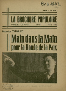 Brochure du PC-SFIC, mars 1938 (cop. BMP)