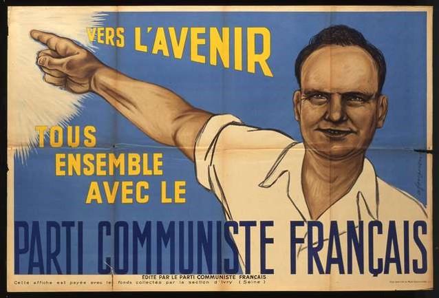 """André Fougeron, """"Vers l'avenir. Tous ensemble avec le parti communiste français"""", 1951. Source : AD93"""